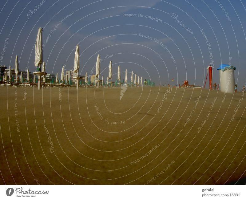 sandy Lignano Italy Sunshade Europe Sand Wind Sky