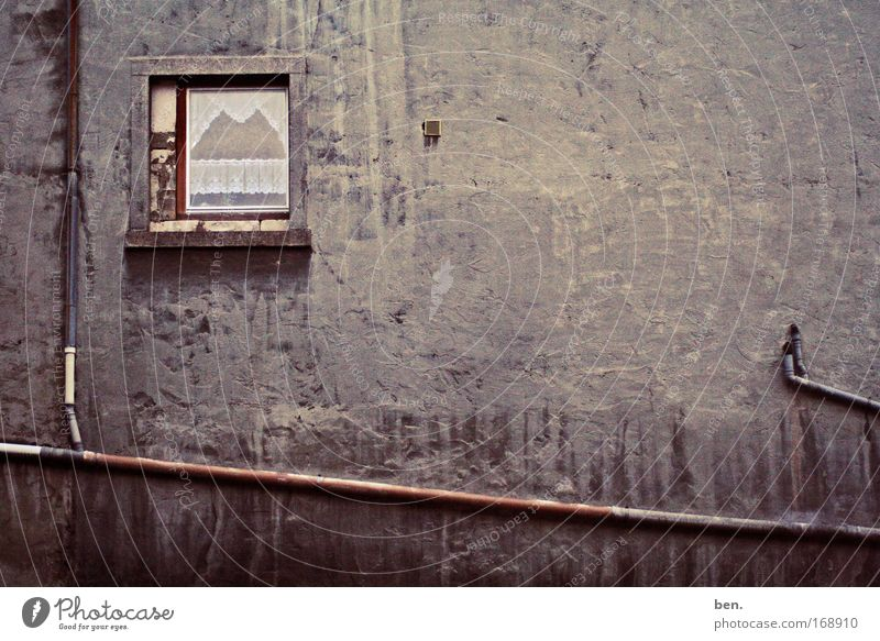 City House (Residential Structure) Loneliness Dark Wall (building) Window Sadness Wall (barrier) Building Dirty Germany Facade Hope Gloomy Romance Transience