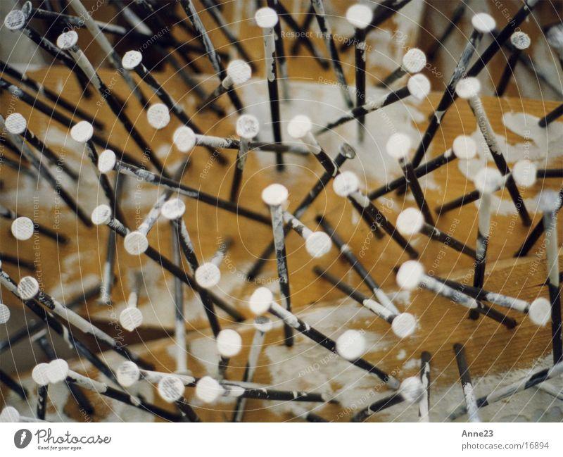 Colour White Dye Wood Metal Things Chaos Nail