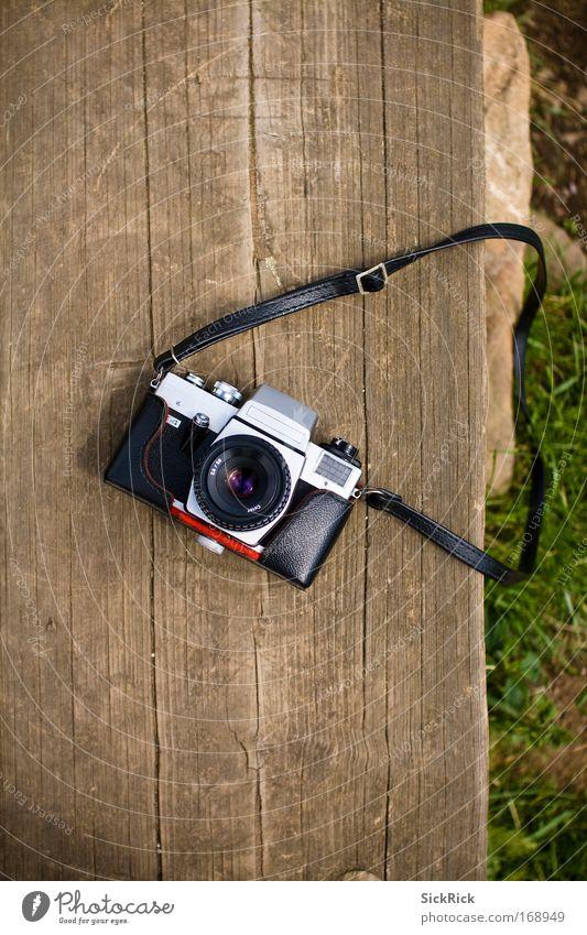 Old Green Senior citizen Black Brown Time Retro Camera Analog Single-lens reflex camera