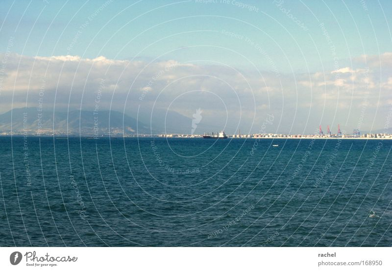 Water Ocean Clouds Relaxation Mountain Waves Coast Environment Large Horizon Fresh Industry Tourism Harbour Observe Hill