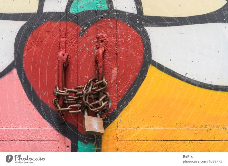 safe love Valentine's Day Art Painter Work of art Architecture Port City Downtown Industrial plant Factory Gate Manmade structures Door Strongbox Metal Steel