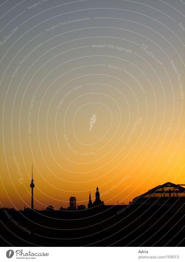 City Berlin Large Tall Trip Tourism Tower Culture Skyline Landmark Downtown Sunset Wanderlust Downtown Berlin Berlin TV Tower