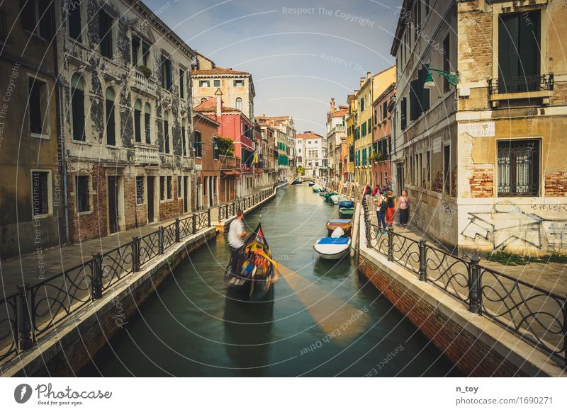 Day in Venice Italy Europe Town Port City Old town House (Residential Structure) Bridge Boating trip Rotate Driving Simple Retro Moody Serene Patient Calm