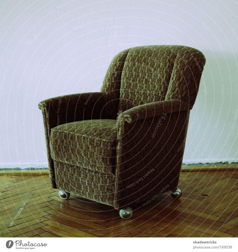 Sit down, sit down. Colour photo Multicoloured Interior shot Close-up Detail Lomography Holga Copy Space left Copy Space top Neutral Background Armchair Trashy