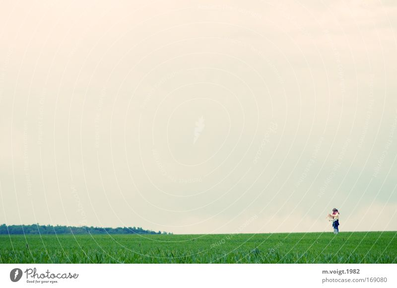 Human being Sky Nature Joy Far-off places Spring Meadow Happy Freedom Together Friendship Horizon Weather Field Infancy Happiness