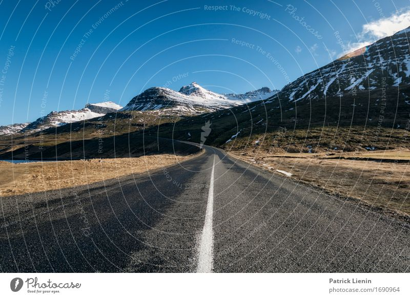 Highway in Iceland Wellness Life Contentment Vacation & Travel Tourism Trip Adventure Far-off places Freedom Island Mountain Environment Nature Landscape Earth