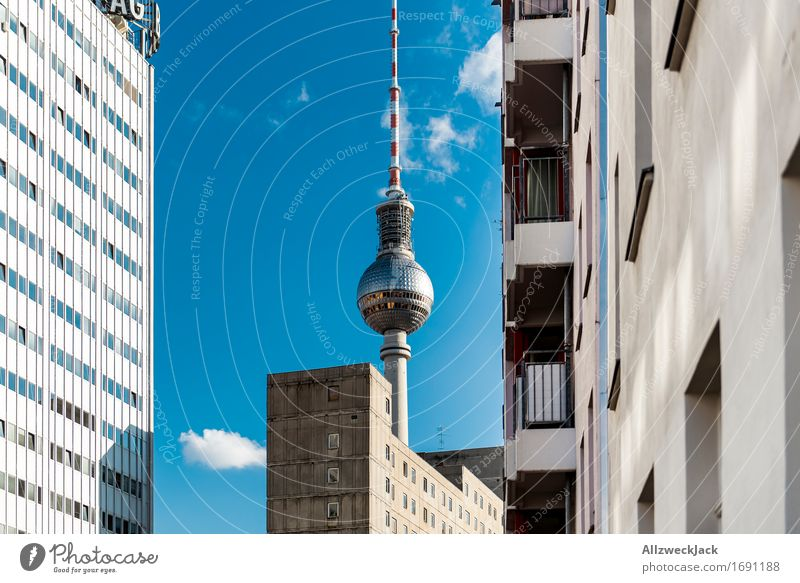 Berlin / Television Tower Capital city Tourist Attraction Landmark Berlin TV Tower Alexanderplatz Famousness Tall Telecommunications Colour photo Exterior shot