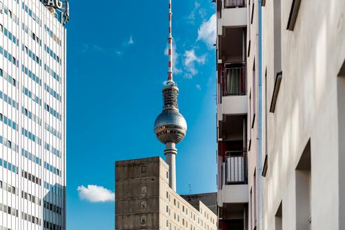 Berlin Telecommunications Tall Tower Landmark Capital city Tourist Attraction Famousness Berlin TV Tower Alexanderplatz