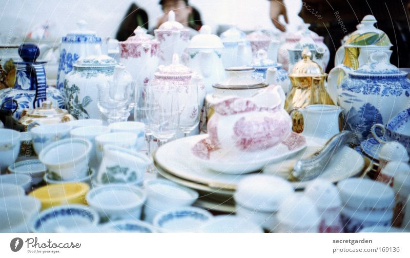 Blue White Nutrition Glass Elegant Glittering Gold Decoration Drinking Culture Lomography Kitsch Markets Vase Table Tea