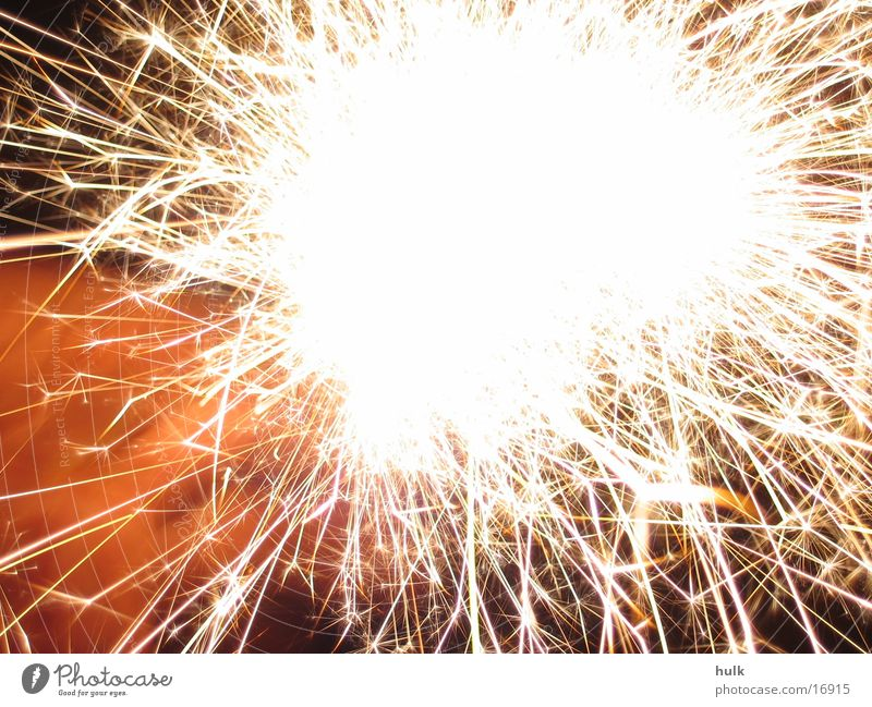 Yellow Orange Blaze New Year's Eve Firecracker Spark Sparkler