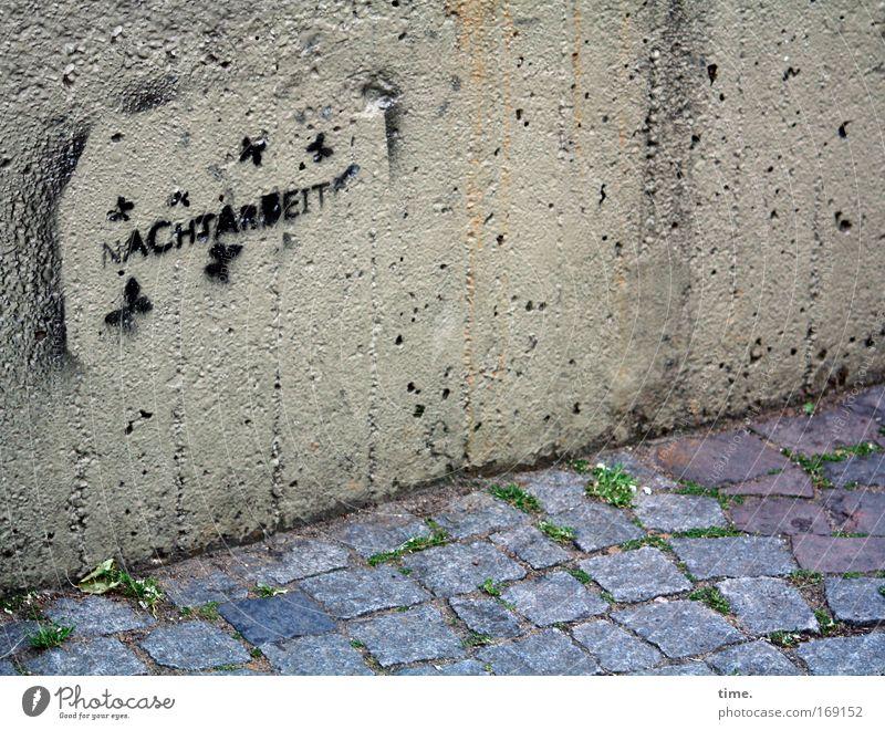 A Hard Night's Day (Reprise) Graffiti Stencil Concrete Wall (barrier) Cobblestones Stone Lanes & trails Corner Material Information Uncomfortable