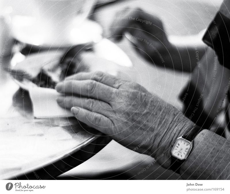 Woman Human being Old Hand Senior citizen Eating Contentment Sit Fingers Clock Coffee Transience Wrinkle Grandmother Past Café