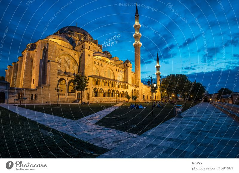 Sulemaniye Camii Vacation & Travel Tourism Sightseeing City trip Art Architecture Sky Park Istanbul Turkey Asia Near and Middle East Town Tower