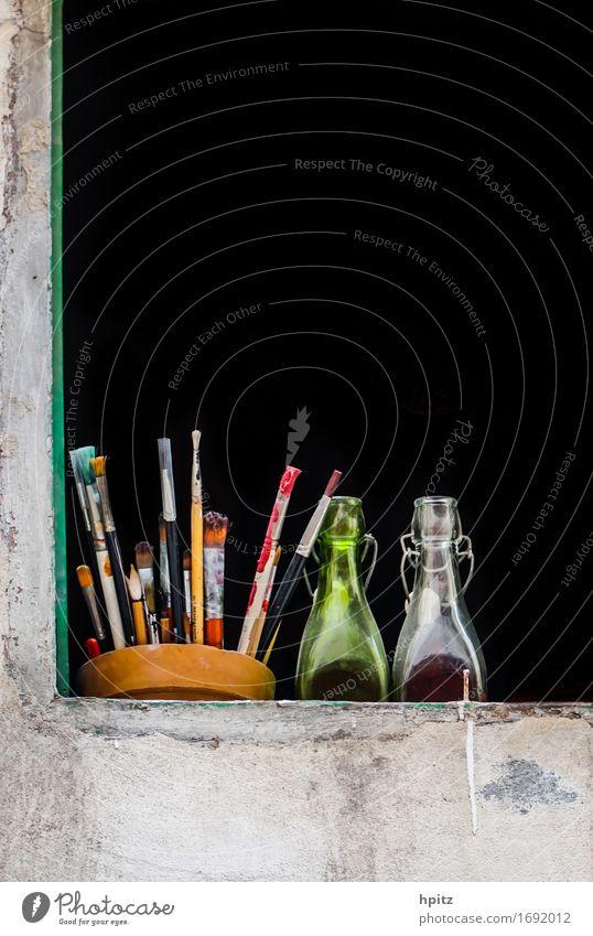 Colour Relaxation Joy Black Happy Art Contentment Decoration Glass Esthetic To enjoy Observe Discover Bottle Paintbrush Painter