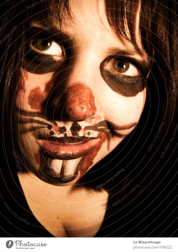 Horror Bunny I Colour photo Interior shot Portrait photograph Forward Feminine Young woman Youth (Young adults) Face 1 Human being 18 - 30 years Adults Wittlich