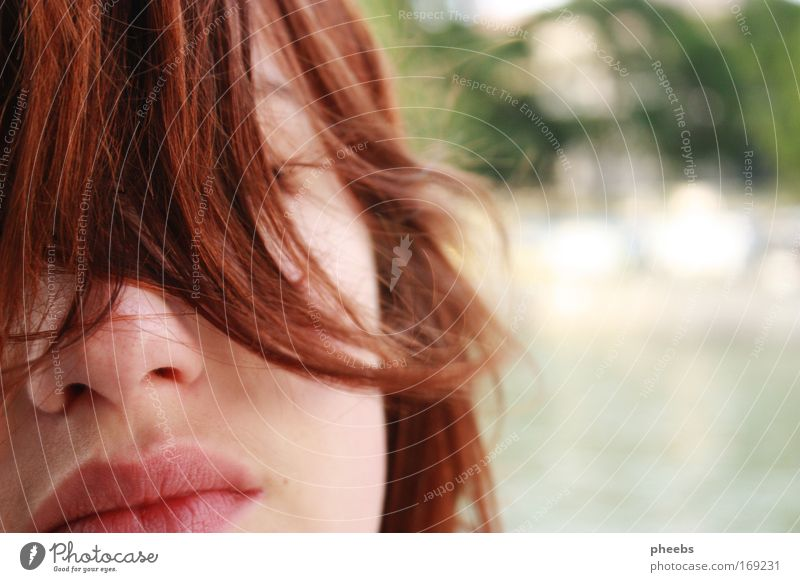 summer:lips Hair and hairstyles Wind Summer River Face Curl Freedom Beautiful weather Bright Lips Mouth Nose Exterior shot Partially visible