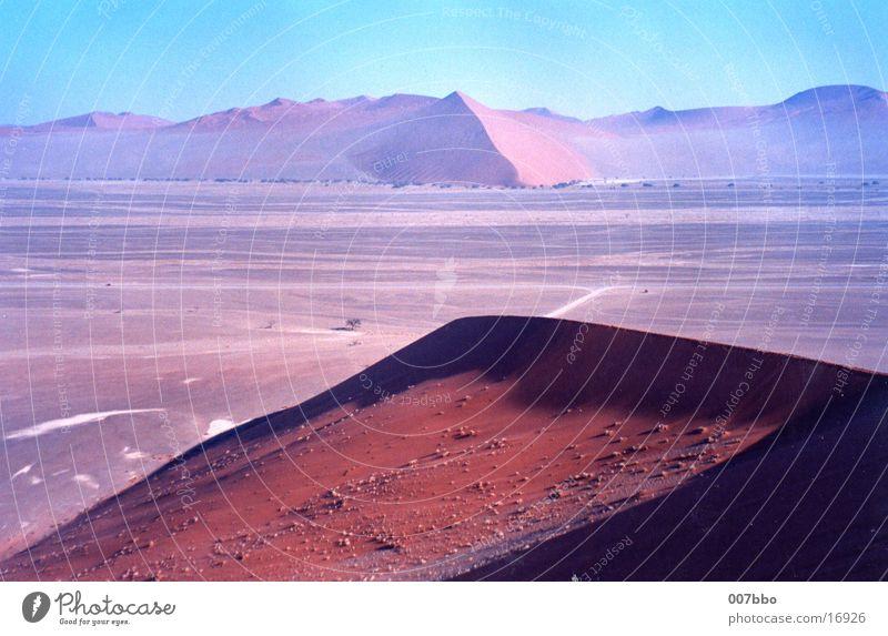 desert landscape Africa Namibia Physics Beach dune Desert Warmth Sand
