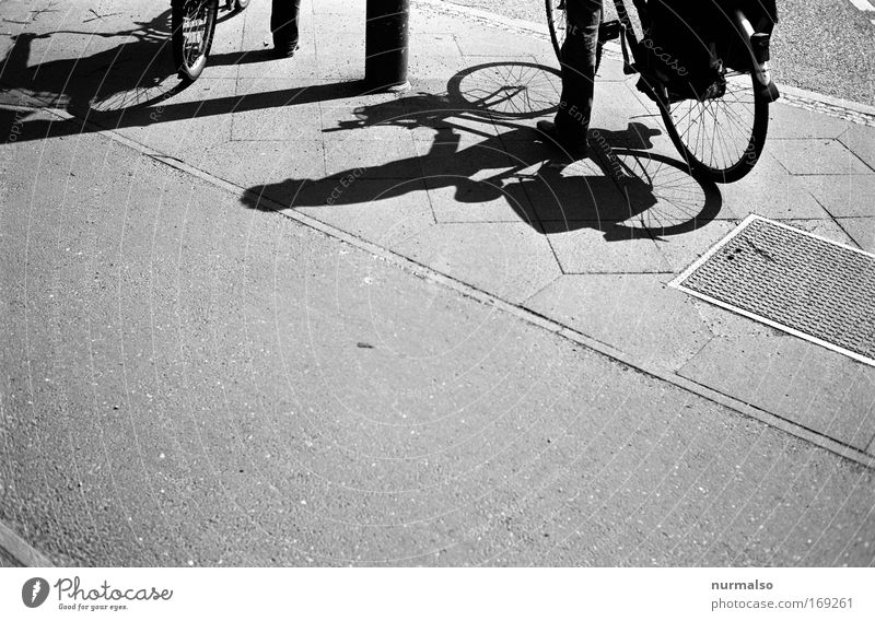 Human being City Calm Street Stone Earth Bicycle Wait Places Trip Stand Asphalt Sign Analog Crossroads Truth