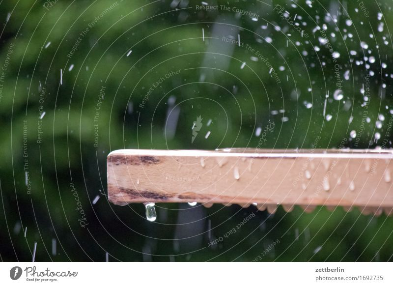 rain Irrigation Garden Cast Background picture Garden plot Climate Deserted Lawn sprinkler Rain Rainwater Strong Copy Space Water Drops of water Weather Table
