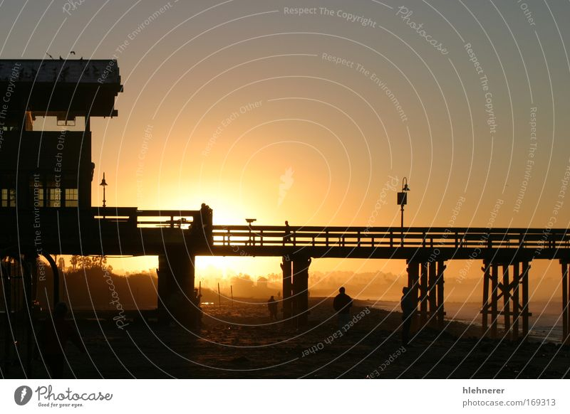 Sunrise Pier Ventura Sky Nature Water Beautiful Vacation & Travel Ocean Beach Relaxation Wood Sand Coast Tourism Elements USA