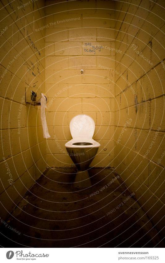 Yellow Dark Brown Dirty Bathroom Clean Toilet
