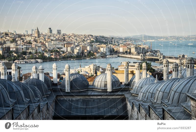 Istanbul Vacation & Travel Tourism Far-off places Freedom Sightseeing City trip Summer Environment Landscape Water River bank Bay Town Port City Downtown