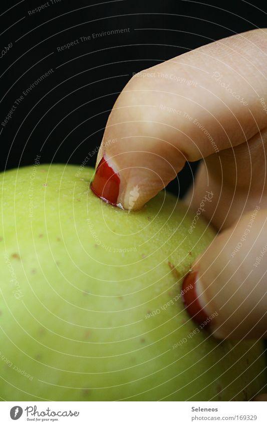 Human being Hand Feminine Sadness Healthy Fruit Skin Food Nutrition Dangerous Fingers Sweet Threat Apple Watchfulness Organic produce