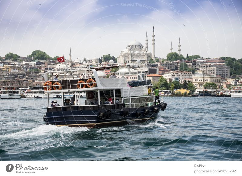 istanbul ferry Vacation & Travel Tourism Trip Sightseeing City trip Cruise Environment Landscape Water Beautiful weather Waves Coast River bank Istanbul Turkey