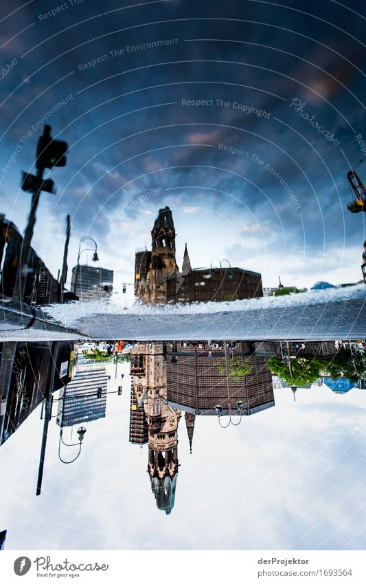 Reflection of the Gedächtniskirche in Pudtze Vacation & Travel Tourism Trip Sightseeing City trip Capital city Church Manmade structures Building Architecture