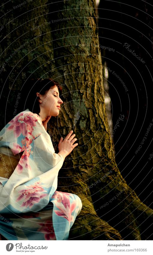 Human being Nature Tree Summer Flower Calm Relaxation Happy Spring Earth Healthy Power Success Force Future Hope