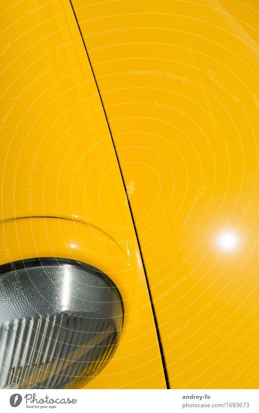 City Colour Yellow Line Car Glass Car headlights Tin Vintage car Motorsports