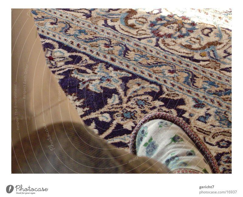 Flower Blue Living or residing Carpet