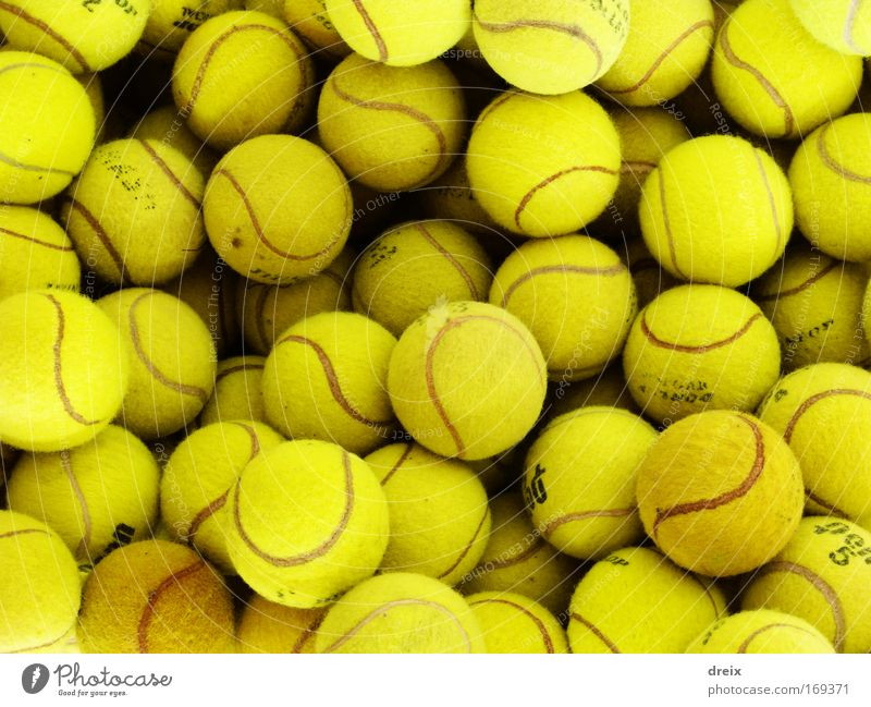 Yellow Are The Balls Colour photo Close-up Experimental Deserted Artificial light Tennis Tennis ball Many Attachment