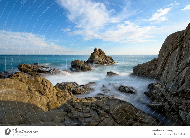 #315 / Rock in the surf Environment Landscape Elements Water Sky Clouds Horizon Summer Waves Coast Bay Ocean Free Blue Power Adventure Movement Loneliness