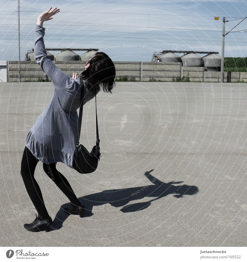 Woman Summer Joy Gray Concrete Places Dress Bag Applause Warped Wave Lean Young woman Mini dress Handbag 400