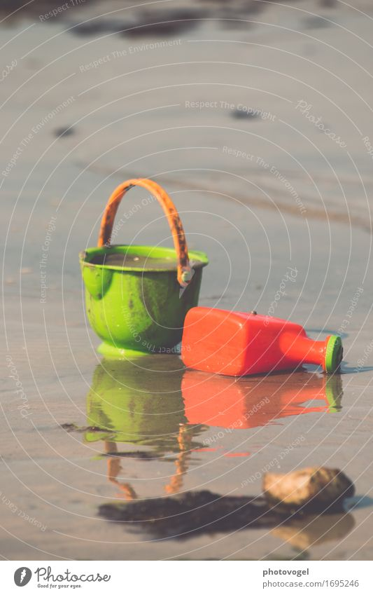 sand game Vacation & Travel Nature Sand Summer Beautiful weather Beach Baltic Sea Brown Green Moody Happy Happiness Life Watering can Bucket Playing Toys Joy