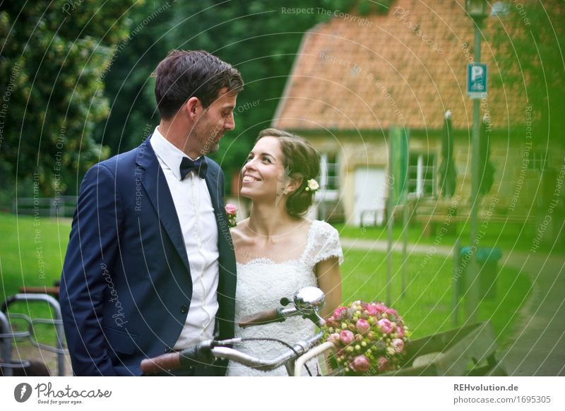 Human being Woman Nature Youth (Young adults) Man Beautiful Green 18 - 30 years Adults Environment Love Emotions Natural Feminine Happy Couple