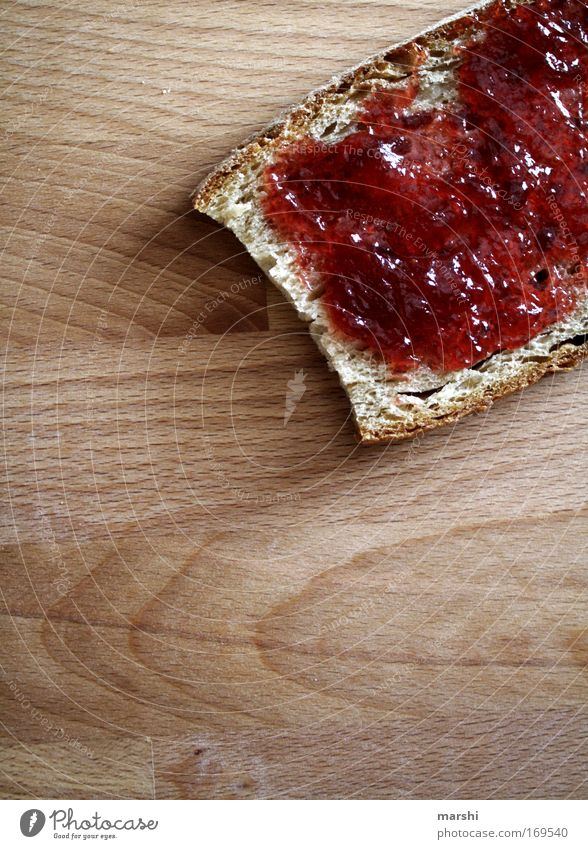 Want some breakfast?! Colour photo Morning Evening Food Bread Jam Breakfast Dinner To enjoy Delicious Sweet Red Moody Appetite Thirst jam bread coat Strawberry