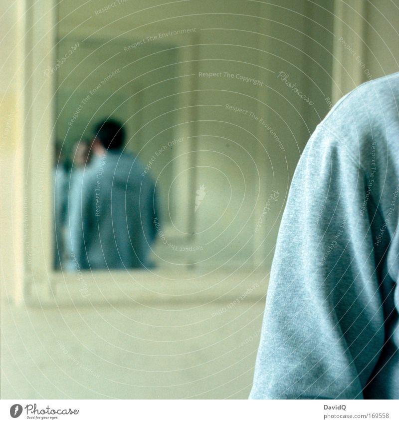 Human being Man Adults Back Arm Masculine Mirror Hallway Self portrait Mirror image Introspection