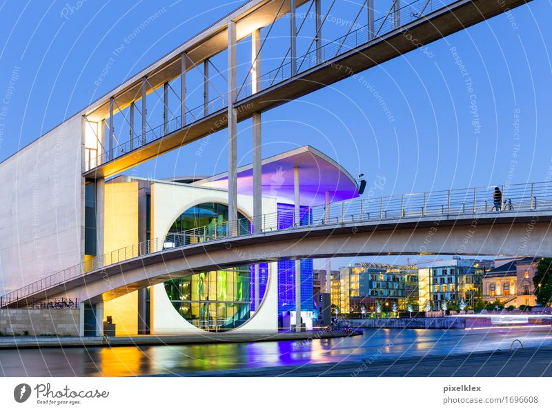 City House (Residential Structure) Yellow Architecture Berlin Building Germany Modern Success Europe Bridge Might River Violet New Manmade structures