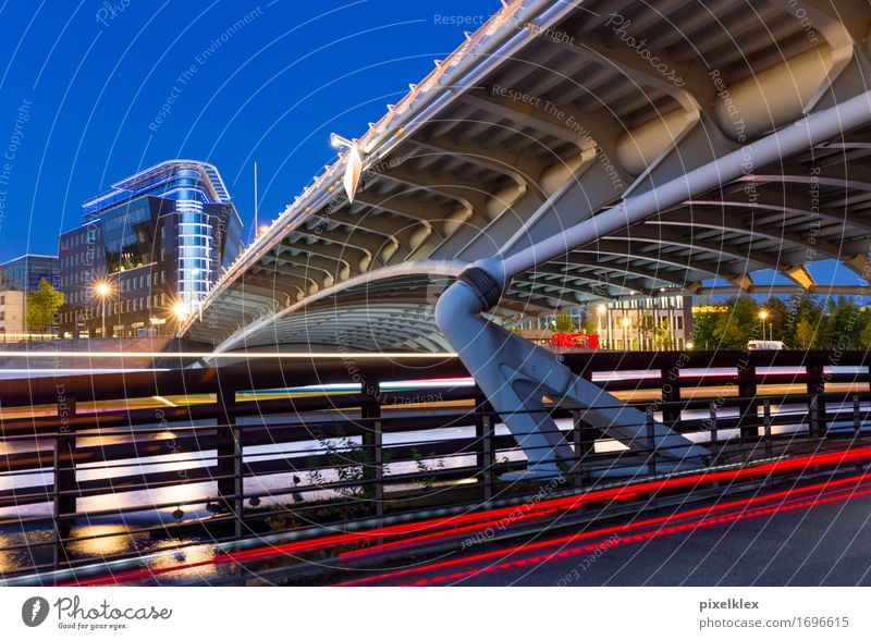 City Blue Red Dark Street Architecture Movement Berlin Business Germany Modern Europe Bridge New Driving Manmade structures