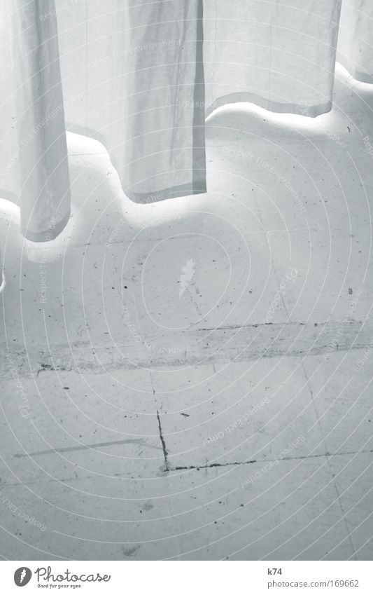 White Window Bright Floor covering Cloth Drape