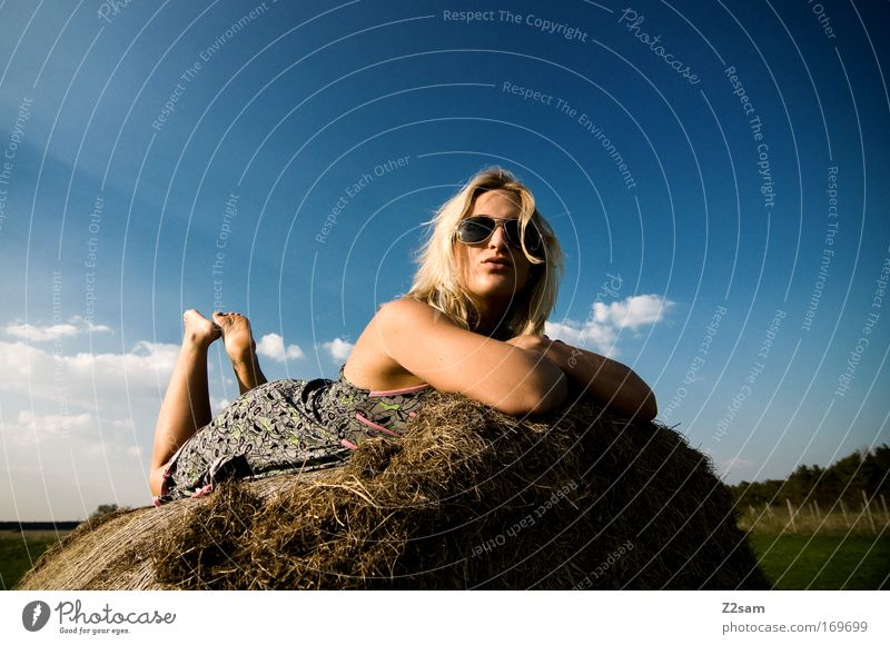 Sky Beautiful Summer Clouds Calm Relaxation Landscape Happy Style Dream Field Blonde Lie Esthetic Cool (slang)