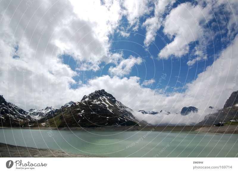 Nature Water Sky Clouds Loneliness Mountain Lake Landscape Air Weather Environment Alps Peak Lakeside Austria Glacier