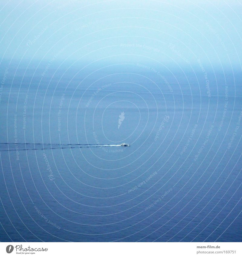 there mediterranean! Mediterranean sea Ocean Watercraft Boating trip Majorca Yacht Navigation Coast Blue Sky Long shot island hopping Vacation & Travel Trip