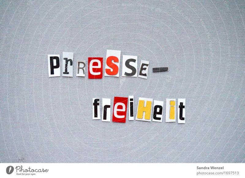 Freedom of the press! Journalist Journalism Media Media industry Media designer Newspaper Magazine Print media Printed Matter Letters (alphabet) Word