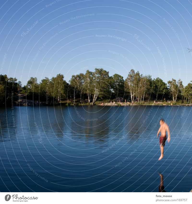 Summer Swim Colour photo Exterior shot Copy Space top Day Motion blur Lifestyle Wellness Well-being Swimming & Bathing Summer vacation Environment Nature