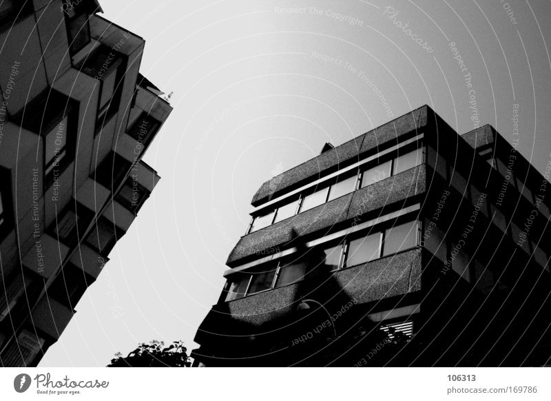 Photo number 123514 Black & white photo White Contrast Gloomy Colorless Architecture Bremen Boredom Sky Building House (Residential Structure)