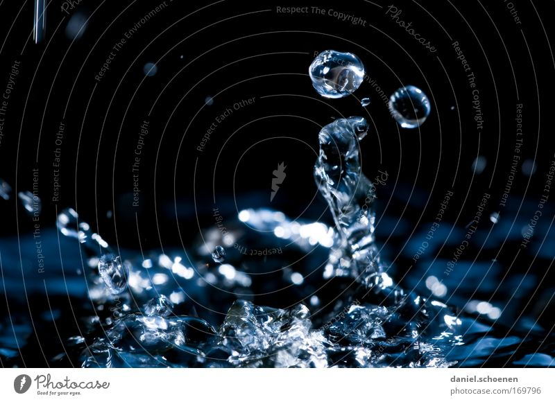 Nature Water Blue Black Movement Drops of water Pure Fluid Quality